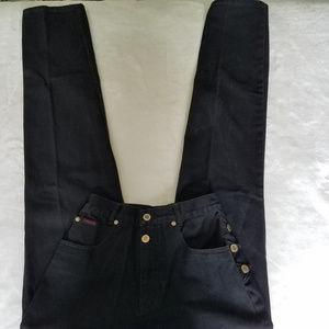 Vintage Black Lawman High Waisted Mom Jeans 24